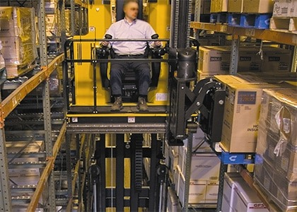 Narrow Aisles Man Up Forklift Truck Training Chichester