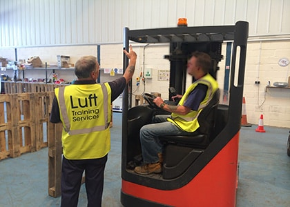 Reach Truck Training Worthing