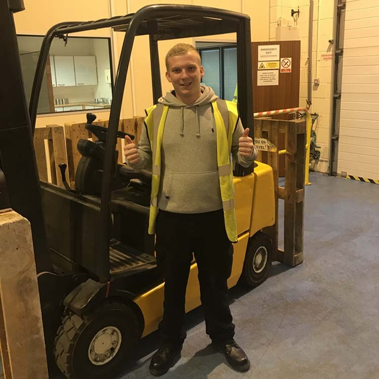 Grant Goode just Passed Forklift Test
